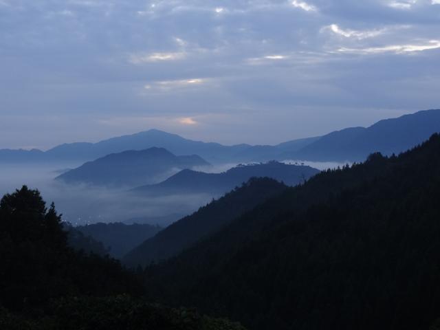 藤和峠からの竹田城跡