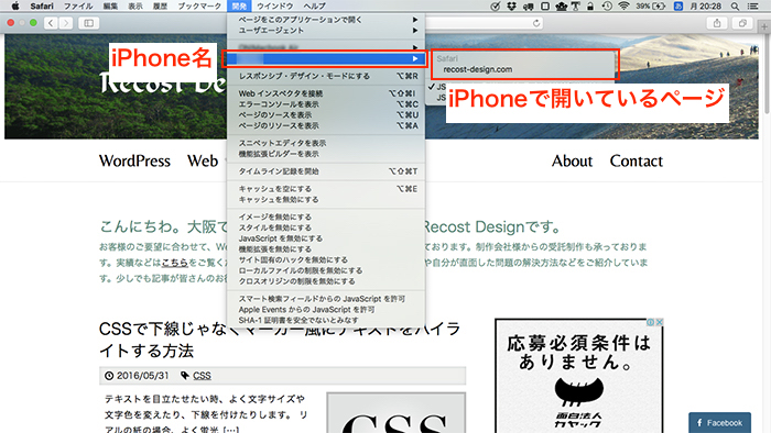 MacのSafariの設定