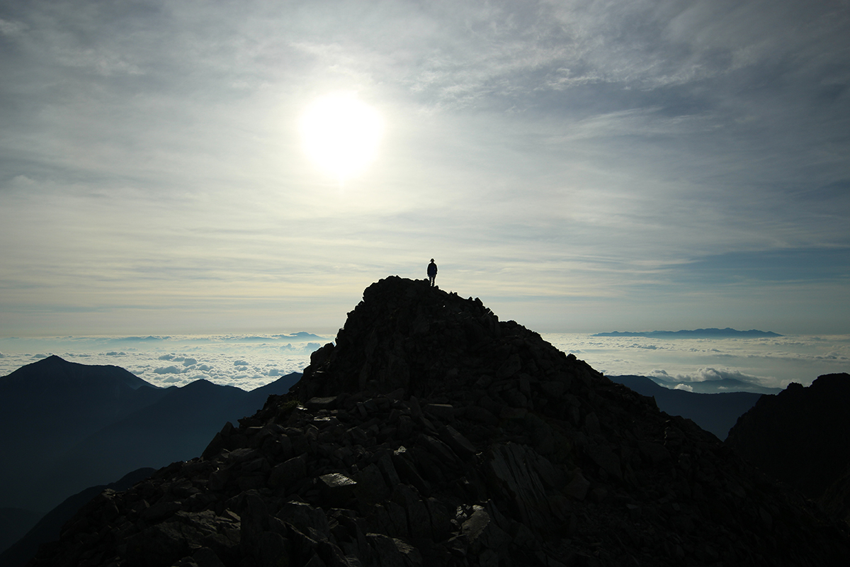 穂高岳山頂